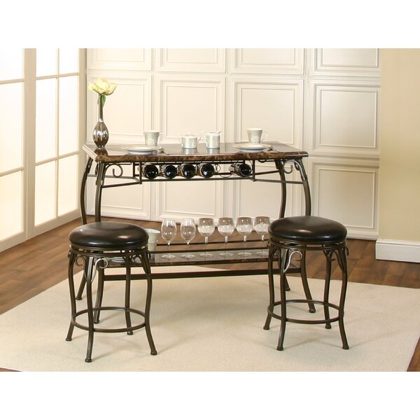 Tekamah 3 Piece Pub Table Set by Fleur De Lis Living Fleur De Lis Living