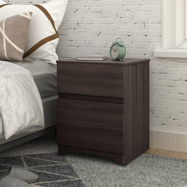 Tarver Wood 2 Drawer Nightstand by Ebern Designs
