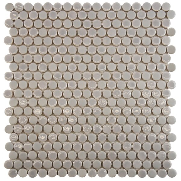 Astraea 0.62 x 0.62 Porcelain Mosaic Tile in Ash by EliteTile