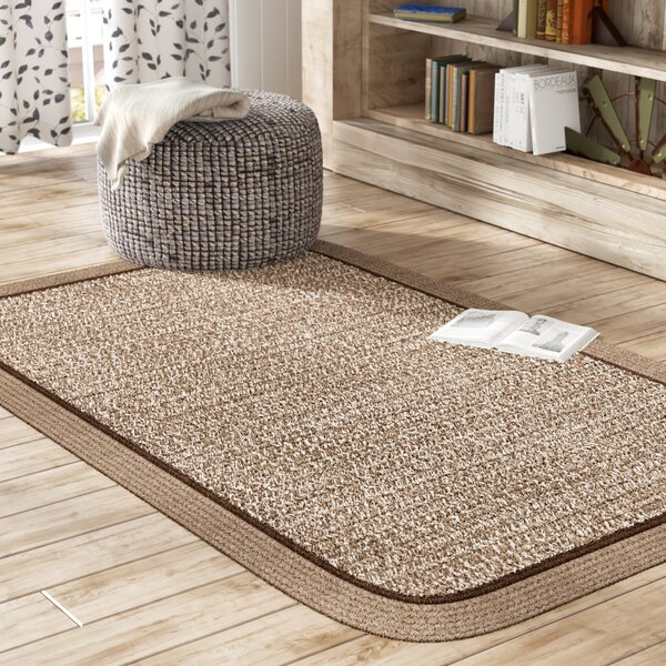 Browdy Banded Mocha Area Rug by August Grove