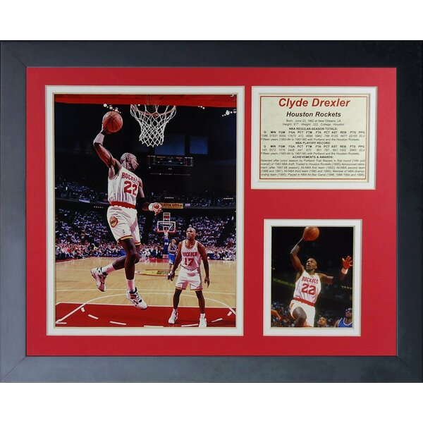 Clyde Drexler Framed Memorabilia by Legends Never Die