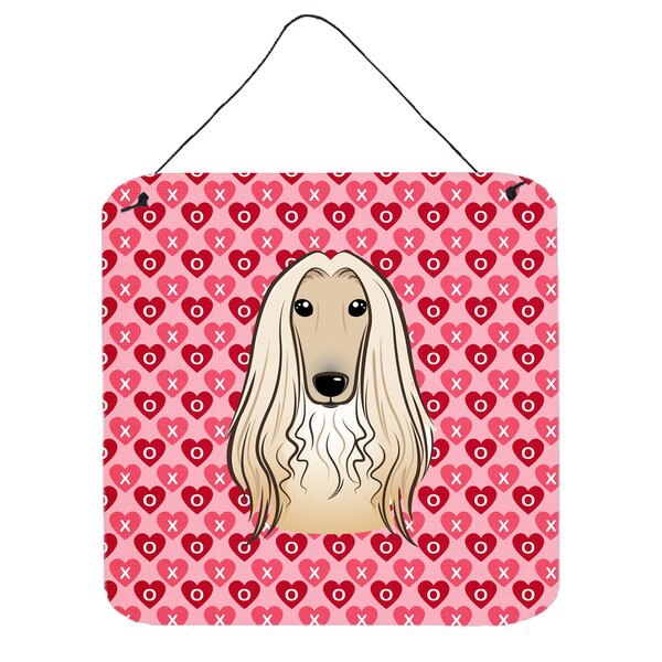 Afghan Hound Hearts Wall Décor by East Urban Home