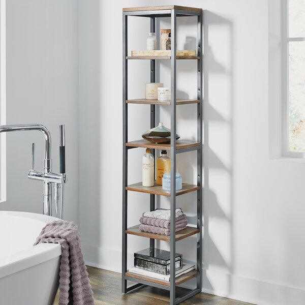Eckles 13 W x 60.25 H Bathroom Shelf by 17 Stories
