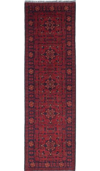 One-of-a-Kind Rosales Hand-Knotted Red/Black Area Rug by Bloomsbury Market