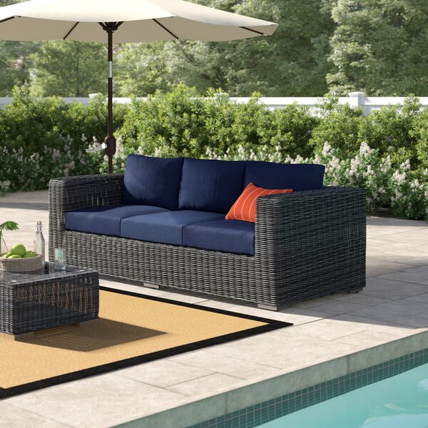 Keiran Patio Sofa With Cushions By Brayden Studio
