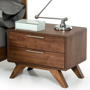 Compare prices Hali 2 Drawer Nightstand ByLangley Street