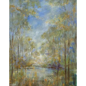 'Forest Creek' Print on Wrapped Canvas by Alcott Hill