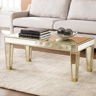 Comparison Paulornette Mirrored Coffee Table By House of Hampton