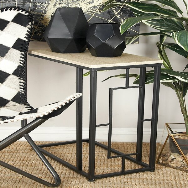 Metal End Table by Cole & Grey