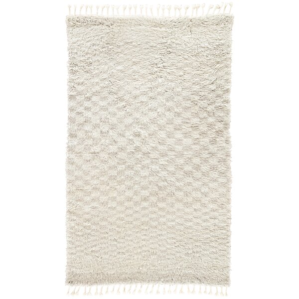 Majewski Hand-Knotted Wool Dawn Blue/London Fog Area Rug by Union Rustic