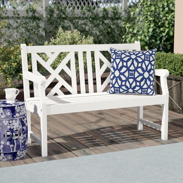 Amabel Wooden Garden Bench by Beachcrest Home Beachcrest Home