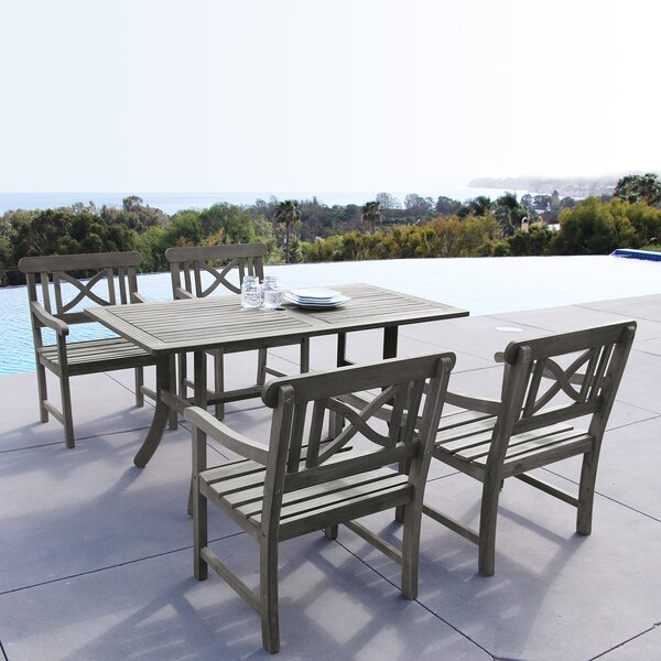 Shelbie Outdoor 5 Piece Dining Set by Sol 72 Outdoor