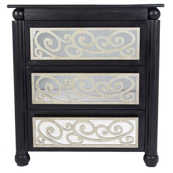 Gediminas 3 Drawer Mirrored Accent Chest By Canora Grey