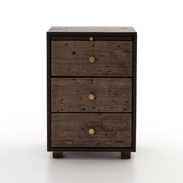 Marie 3 Drawer Nightstand by Union Rustic