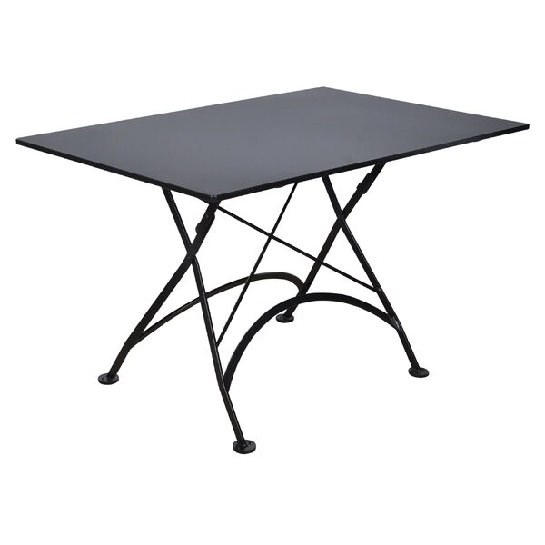 European Café Folding  Metal Dining Table By Furniture Designhouse