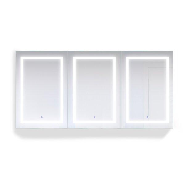 Eberardo Triple LED 72 x 36 Recessed or Surface Mount Frameless Medicine Cabinet