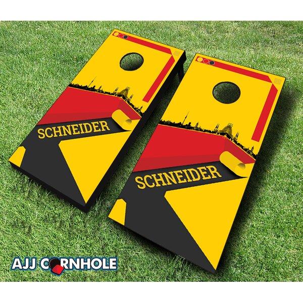 10 Piece German Surname Cornhole Set by AJJ Cornhole