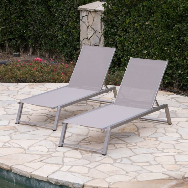 Ipock Reclining Chaise Lounge (Set of 2) by Orren Ellis