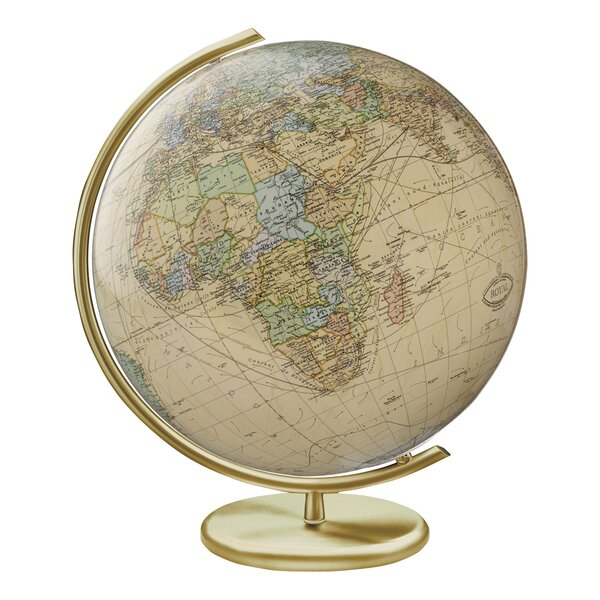 Weimar Illuminated Glass Desktop Globe by Columbus Globe