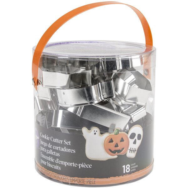 Non-Stick Cookie Cutter Tub Halloween (Set of 18) by Wilton