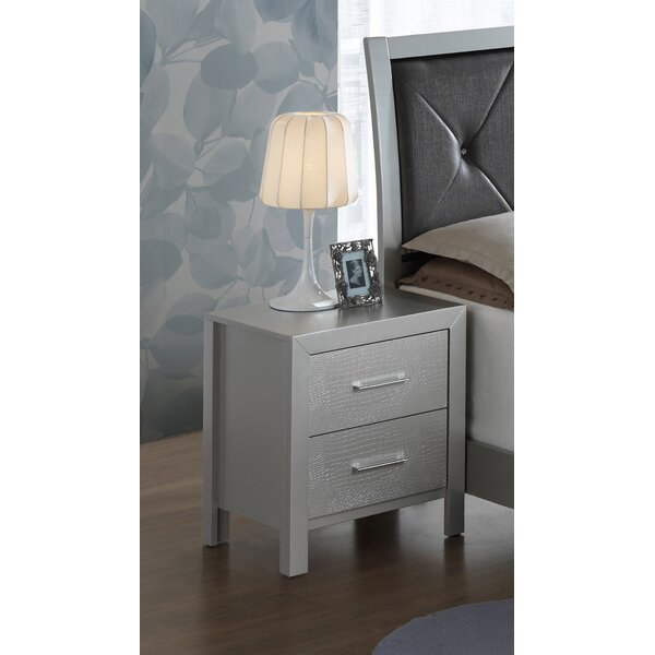 Raye 2 Drawer Nightstand by Everly Quinn