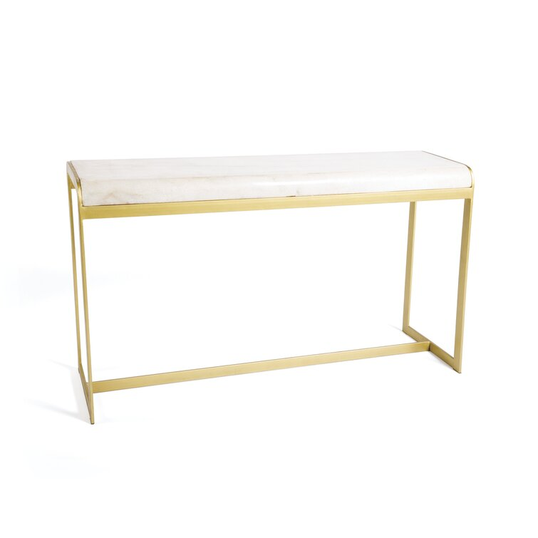 Simple 1//3-Tier Sofa Entry Table White Marbling Gold Metal Frame Console Table