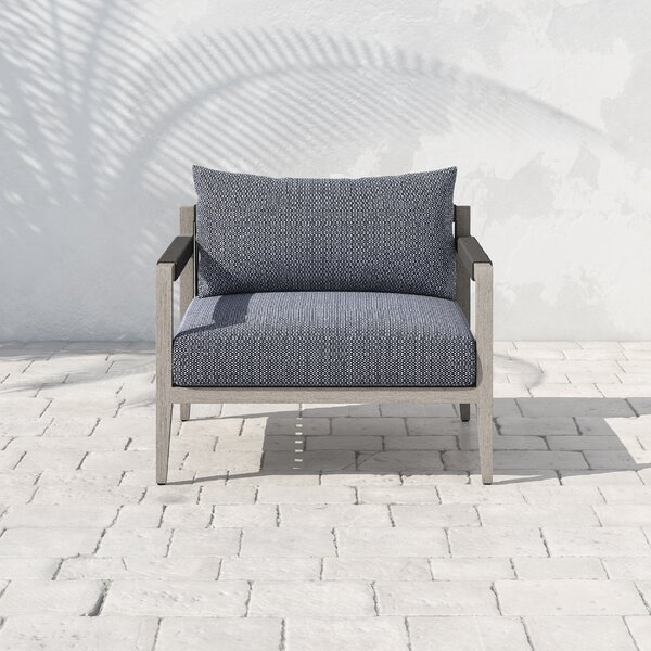 Franko Sherwood Teak Patio Chair with Cushions by Bungalow Rose