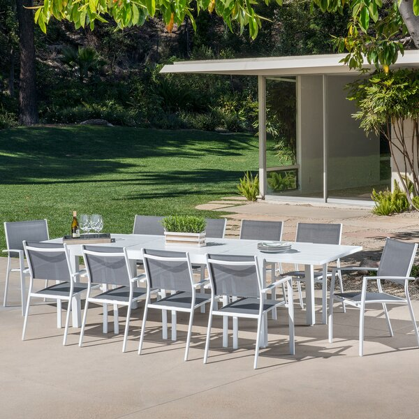 Anahi 11 Piece Outdoor Dining Set by Orren Ellis