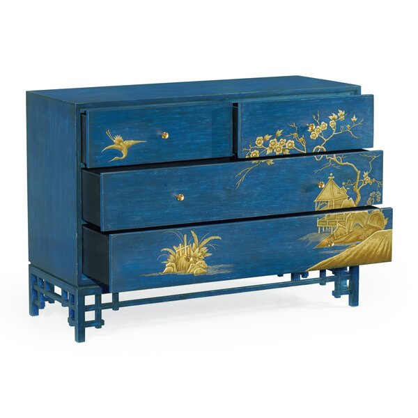 Chinoiserie Style 4 Drawer Accent Chest by Jonathan Charles Fine Furniture