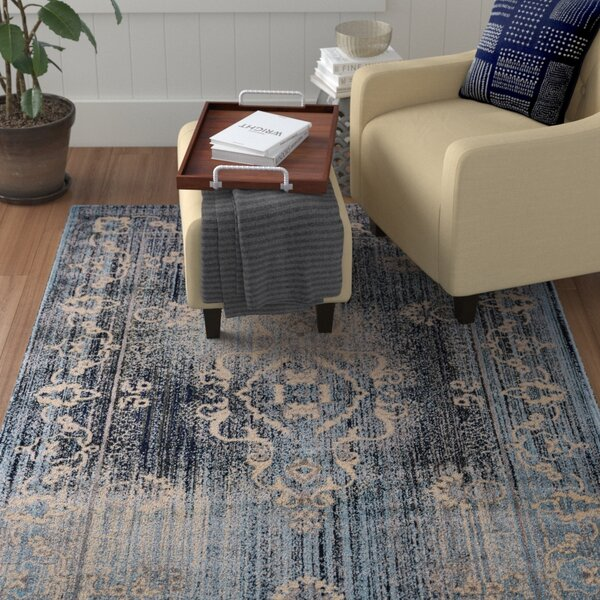 Knuth Cream/Aqua Area Rug by Winston Porter
