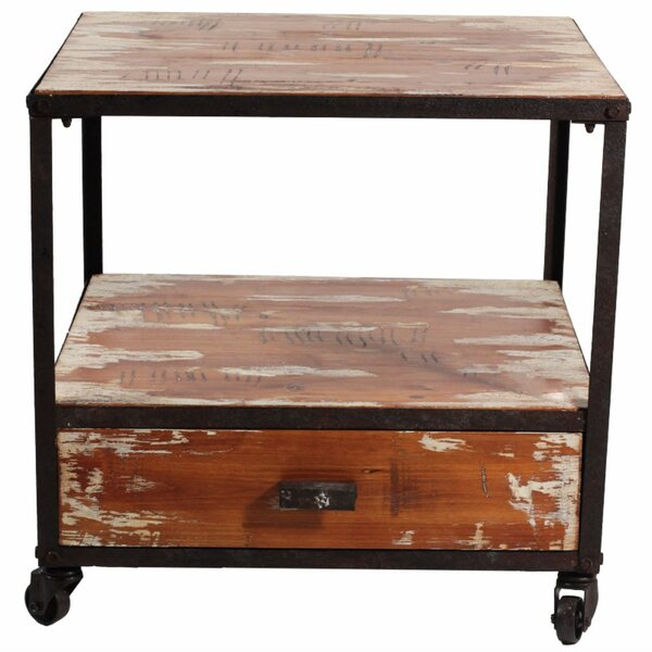 Review Wilmer Wooden End Table With Storage