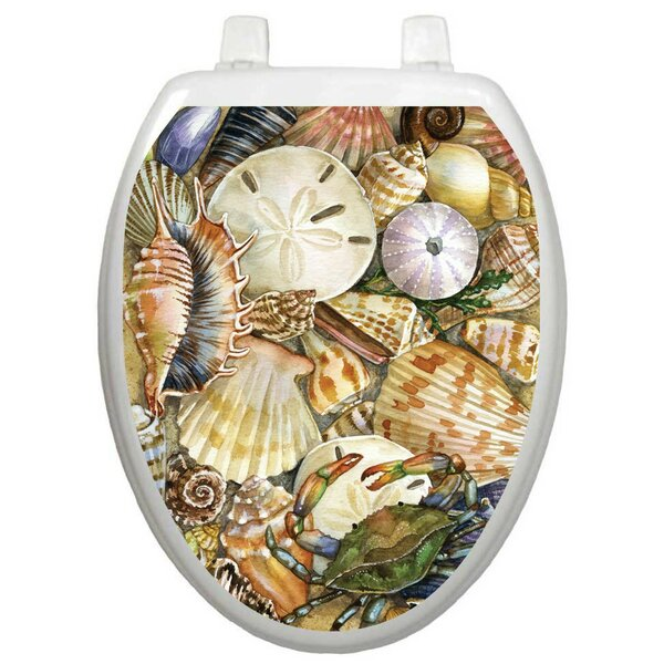 Tidal Treasures Toilet Seat Decal by Toilet Tattoos