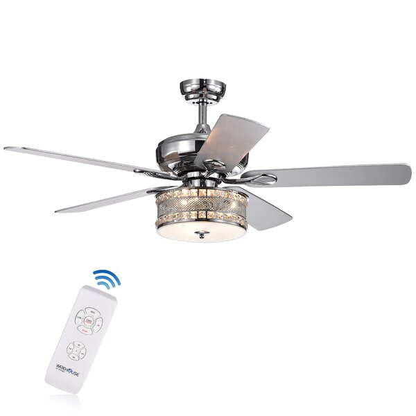 52 Darby 5 Blade Ceiling Fan with Remote by House of Hampton