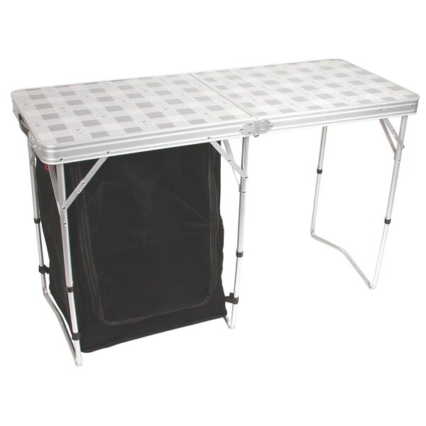 Cupboard Folding Silver Camping Table by Coleman
