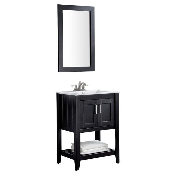 Elkin 24 Single Bathroom Vanity Set with Mirror