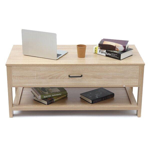 Latasha Lift Top Extendable Floor Shelf Coffee Table with Storage by Brayden Studio Brayden Studio