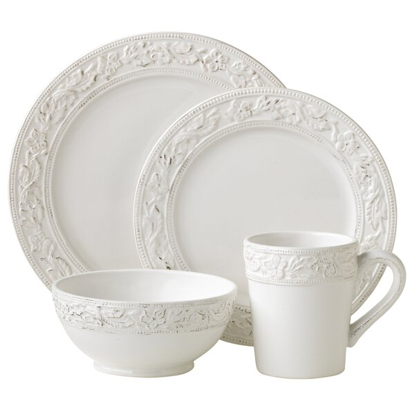 Country Cupboard 4 Piece Place Setting, Service for 1 by Pfaltzgraff