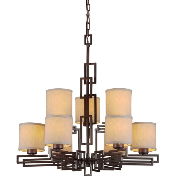 Wagstaff 9-Light Shaded Tiered Chandelier By Winston Porter