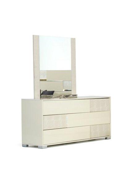 Camron 3 Drawer Dresser with Mirror by Orren Ellis
