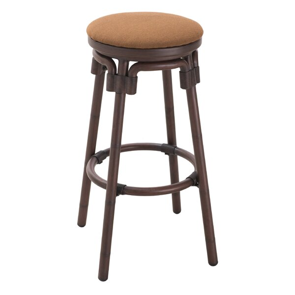 Elzey 41 Patio Bar Stool with Cushion (Set of 2) by Darby Home Co