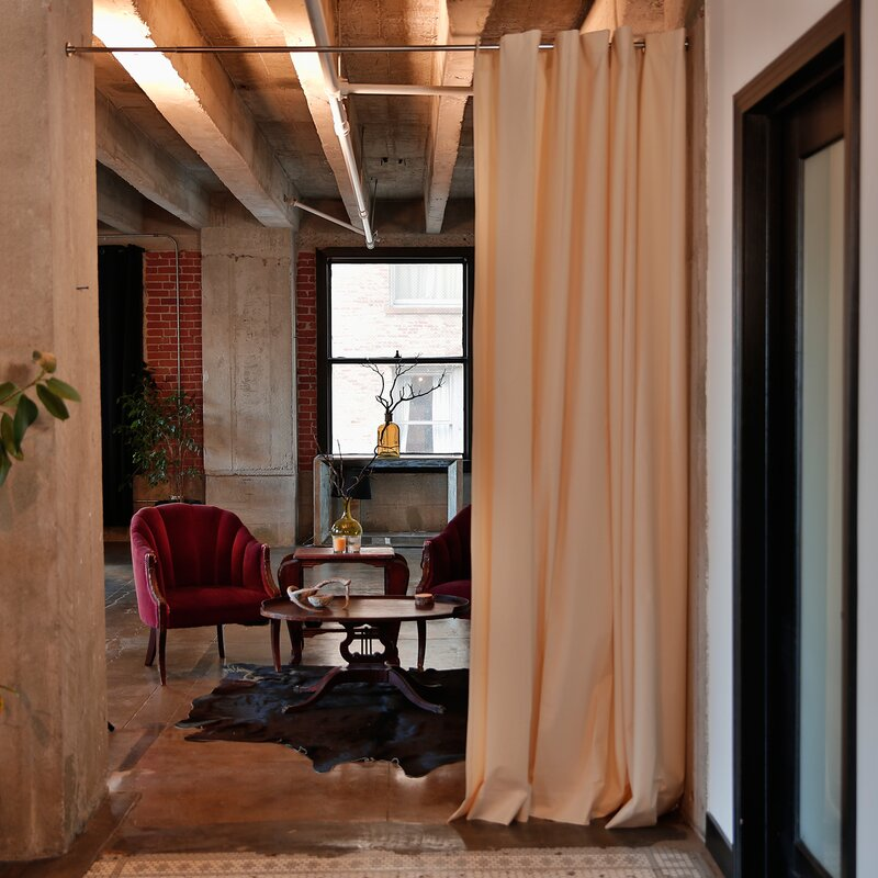 roomdividersnow muslin tension rod room divider kit reviews. Black Bedroom Furniture Sets. Home Design Ideas
