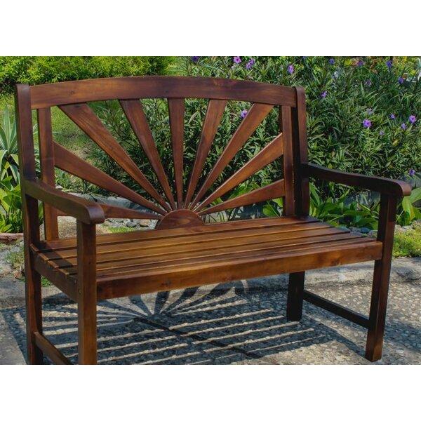 Rothstein Outdoor Wood Garden Bench By Beachcrest Home by Beachcrest Home No Copoun