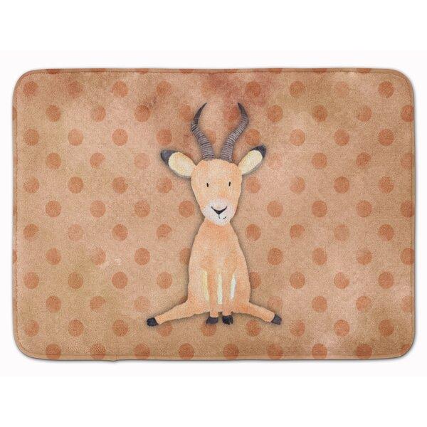 Antelope Watercolor Memory Foam Bath Rug by East Urban Home
