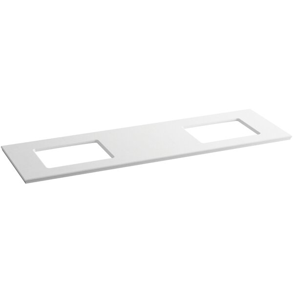 Solid/Expressions 73 Double Bathroom Vanity Top by Kohler
