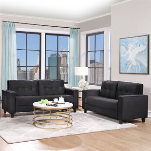 Sofa Set Morden Style Couch Furniture , Loveseat+ Three Seat ,For Home Or Office (2+3 Seat) by Latitude Run®
