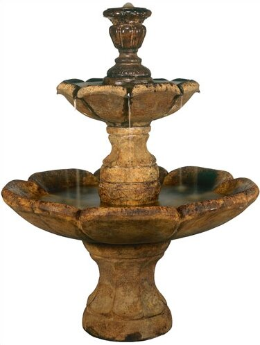 Tiered Concerte Finial Cascade Fountain by Henri Studio