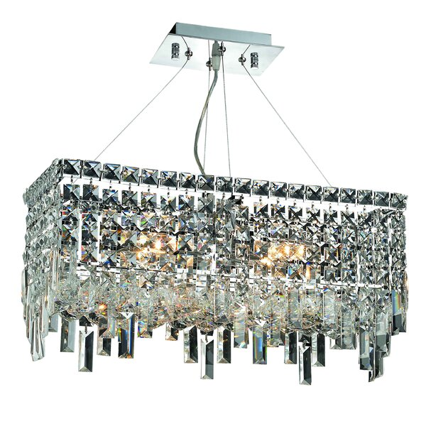 Gilberto 4-Light Crystal Chandelier by Rosdorf Park