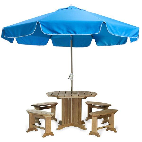 Java Teak 10' Drape Umbrella by All Things Cedar