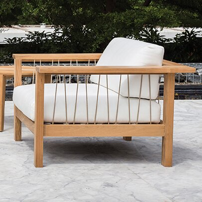 Maro Teak Patio Chair with Cushions by OASIQ OASIQ