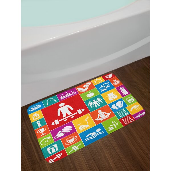 Different Fitness Bath Rug by East Urban Home